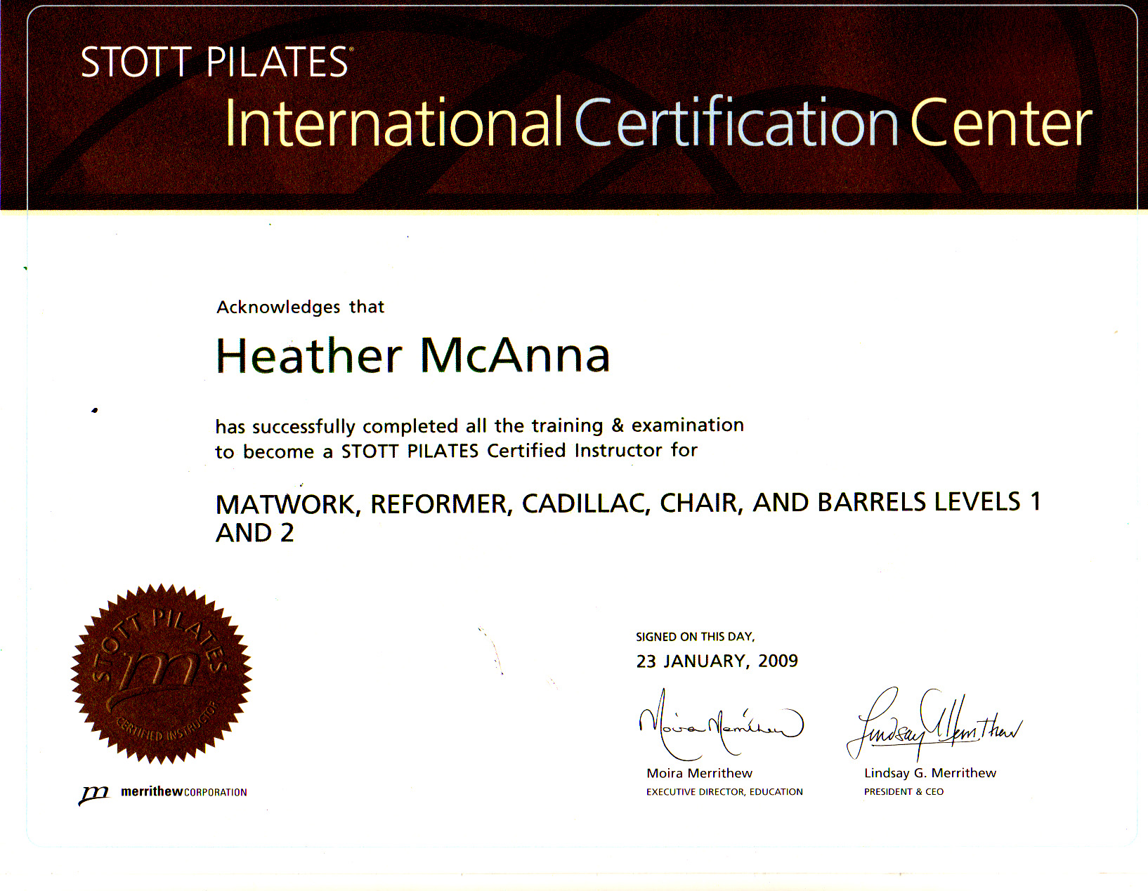 Hd pilates welcome stott ref cadi chair and barrels int and ess levels 2007 certificate xflitez Choice Image